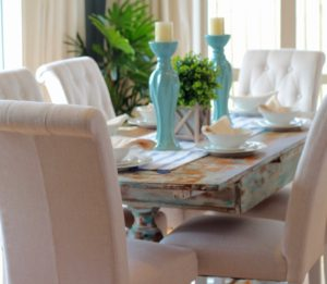 Hampton styling dining areas
